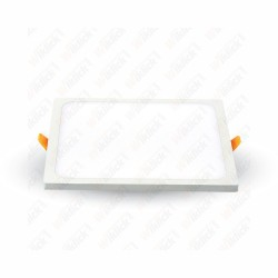 VT-888 8W LED Frameless Panel Light Square 3000K