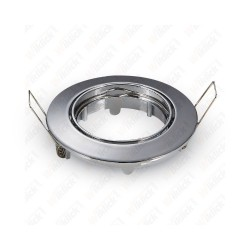 VT-779RD GU10 Fitting Round Movable Chrome