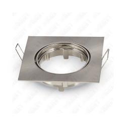VT-779SQ GU10 Fitting Square Movable Satin Nickel