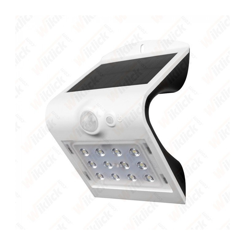 VT-767-2 1.5W LED Solar Wall Light 4000K+400K White+Black Body