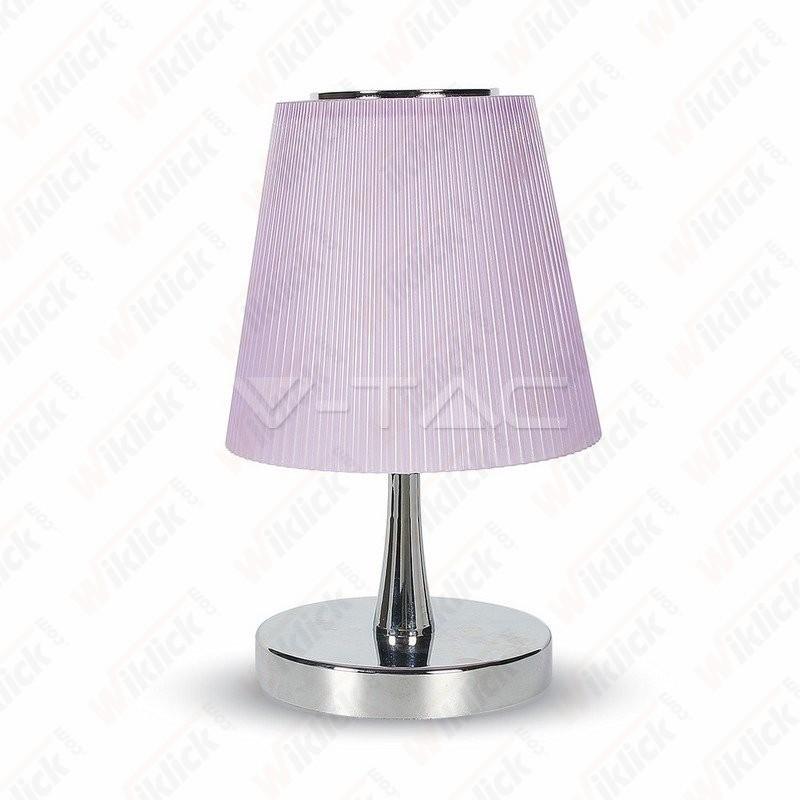 VT-1035 5W LED Desk Lamp Chrome Body+Purple Shade