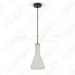 VT-7175 Glass Pendant Light White