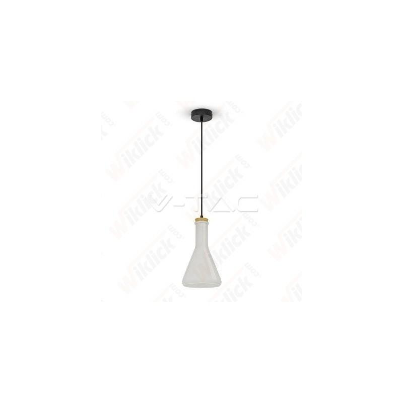 VT-7175 Glass Pendant Light White