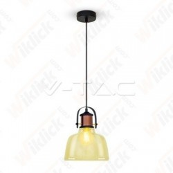 VT-7220 Glass Pendant Light Amber