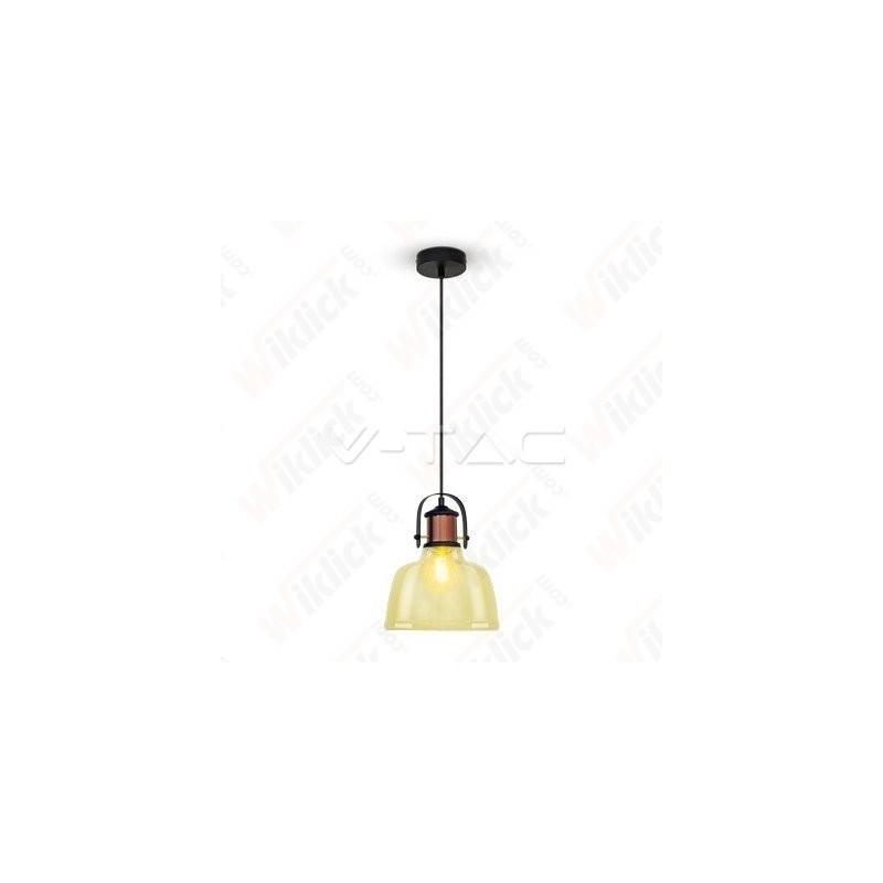 VT-7220 Glass Pendant Light Amber