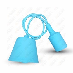VT-7228 E27 Pendant Holder Light Blue Body