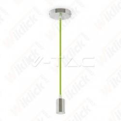 VT-7338 Chrome Metal Cup Pendant Light Green