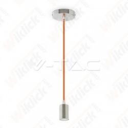 VT-7338 Chrome Metal Cup Pendant Light Orange