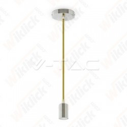 VT-7338 Chrome Metal Cup Pendant Light Yellow