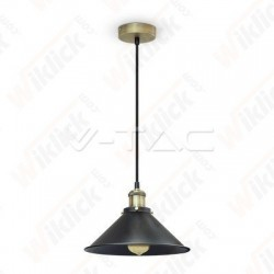 VT-7424 Vintage Pendant With Metal Black