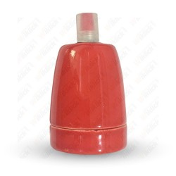 VT-799 Porcelan Lamp Holder Fitting Red