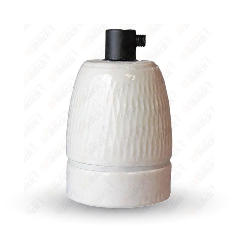 VT-799 Porcelan Lamp Holder Fitting White