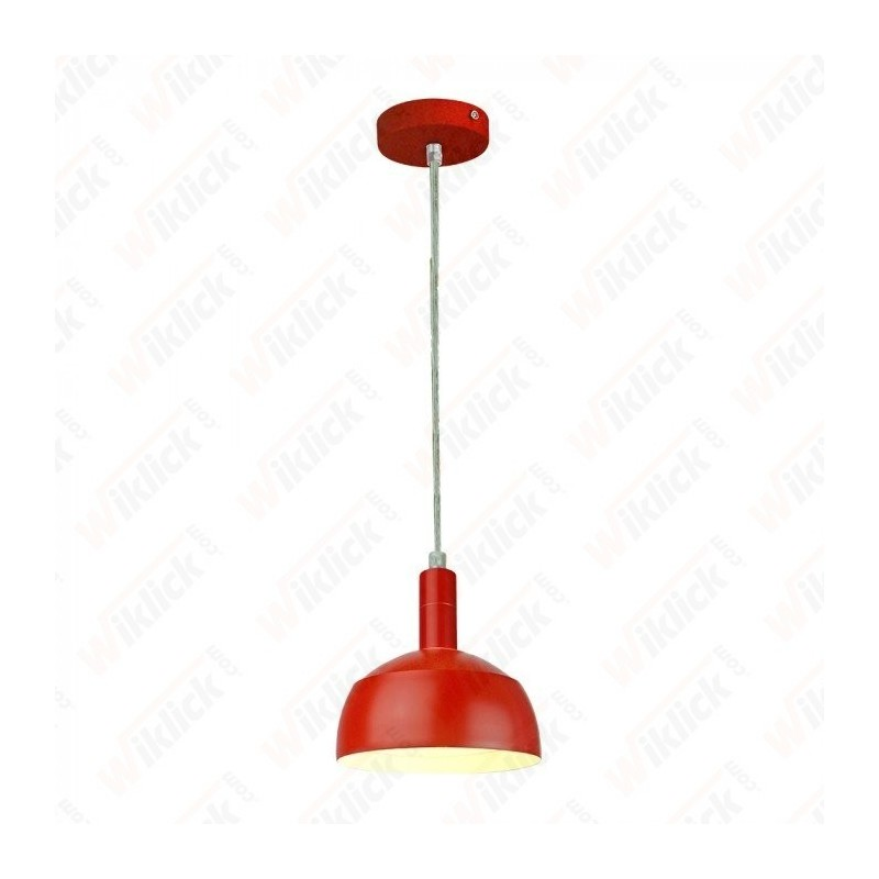 VT-7100 Plastic Pendant Lamp Holder E27 With Slide Aluminum Shade Red