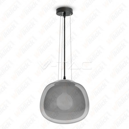 VT-7292 Pendant Light Modern Glass Grey 3 Wire Suspension ?290??