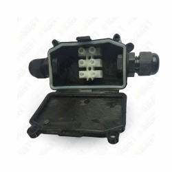 VT-7224 Waterproof Box With Terminal Block Black