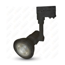 VT-7117 E27 Track Light Fitting 2 Core Black Body