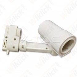 VT-7117 E27 Track Light Fitting 4 Core White Body
