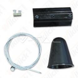 Hanging Track Light Kit 1M/4Line White