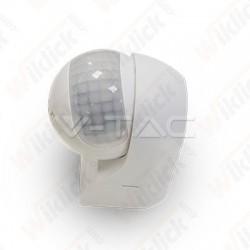 VT-8028 PIR Wall Sensor With Moving Head White