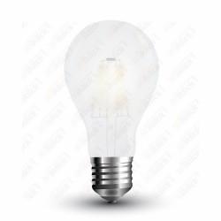 VT-1938 LED Bulb - 8W Filament E27 A67 Frost Cover 4000K