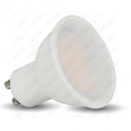 VT-2887D LED Spotlight - 7W GU10 White Plastic 3000K Dimmable