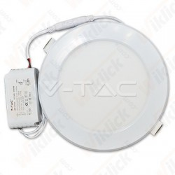 VT-1209 12W LED Plastic Panel Downlight - Round 3000K
