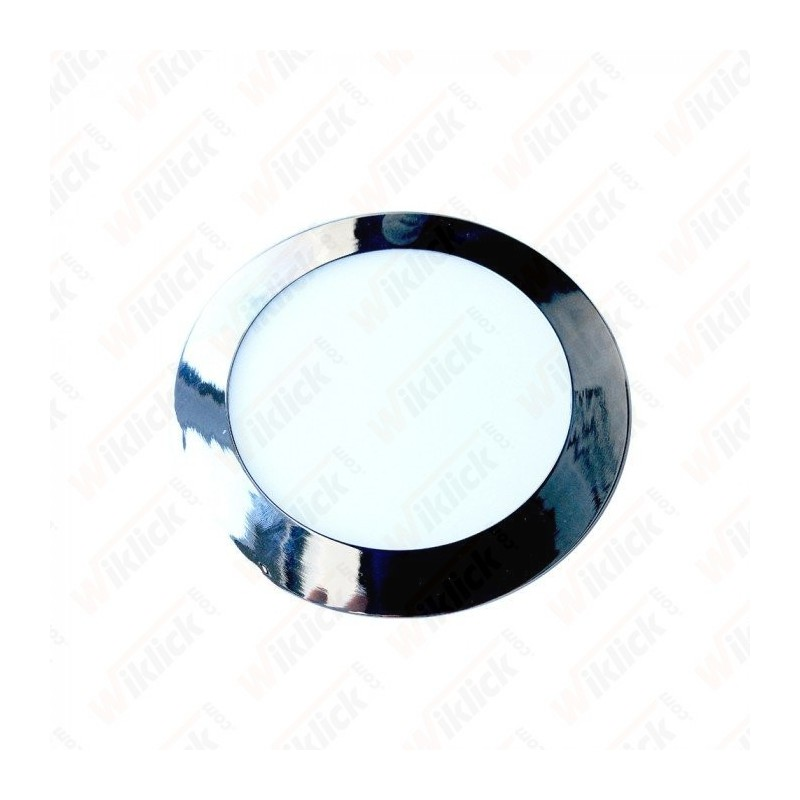 VT-1807CH 18W LED Slim Panel Light Chrome Round 6000K