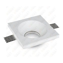 VT-776 GU10 Fitting Square Gypsum White