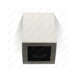 VT-797 GU10 Fitting Surface Square Satin Nickle