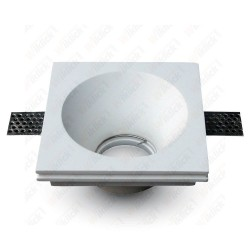 VT-772 GU10 Fitting Square Gypsum White