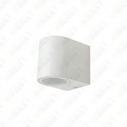 VT-7651 Wall Sleek Wall Fitting Round White Body 1Way IP44