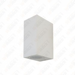 VT-7652 Wall Sleek Wall Fitting Square White Body 2Way IP44