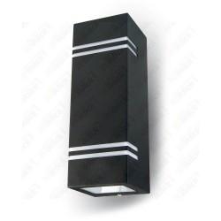 VT-7662 Wall Sleek Fitting GU10 Steel Body Square Black 2 Way IP44