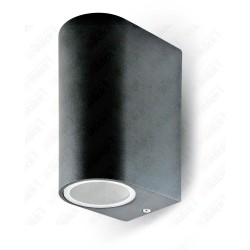 VT-7652 Wall Sleek Fitting GU10 Aluminium Body Round Black 2 Way IP44