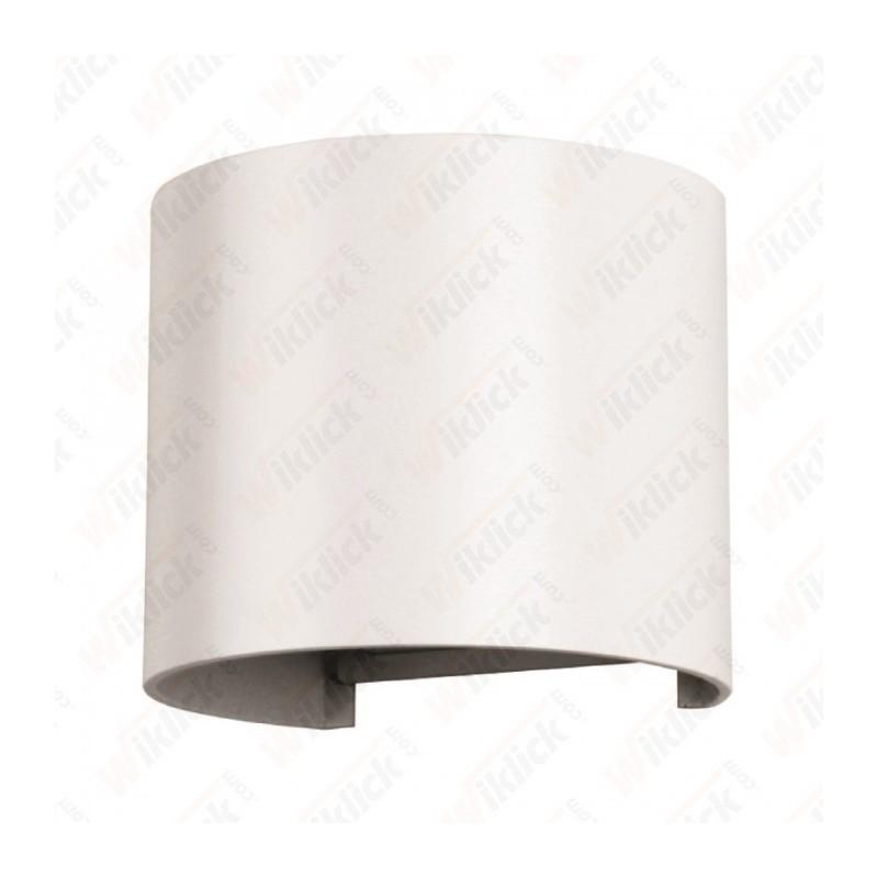 VT-756 6W Wall Lamp White Body Round IP65 3000K