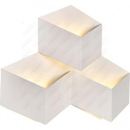 9W LED Wall Light White Body 3000K IP65