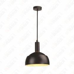 VT-7100 Plastic Pendant Lamp Holder E14 With Slide Aluminum Shade Black