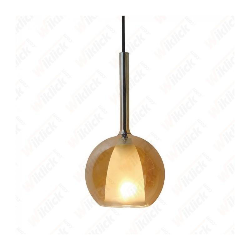 VT-7304 Pendant Light Double Glass Amber+White ?300??