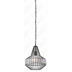 VT-7334 Pendant Light Metal W/Crystel Top D300*360mm