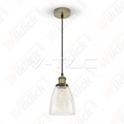 VT-7150 Vintage Glass Pendant Light Transparent Diametro 140