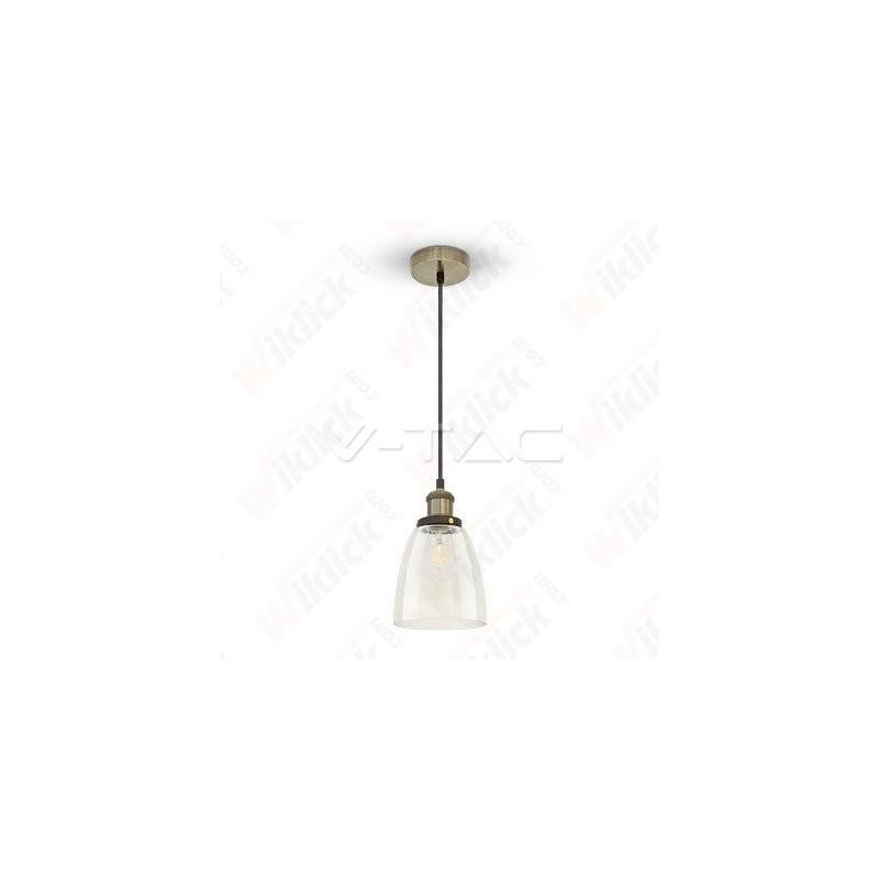 VT-7150 Vintage Glass Pendant Light Transparent Diametro 140
