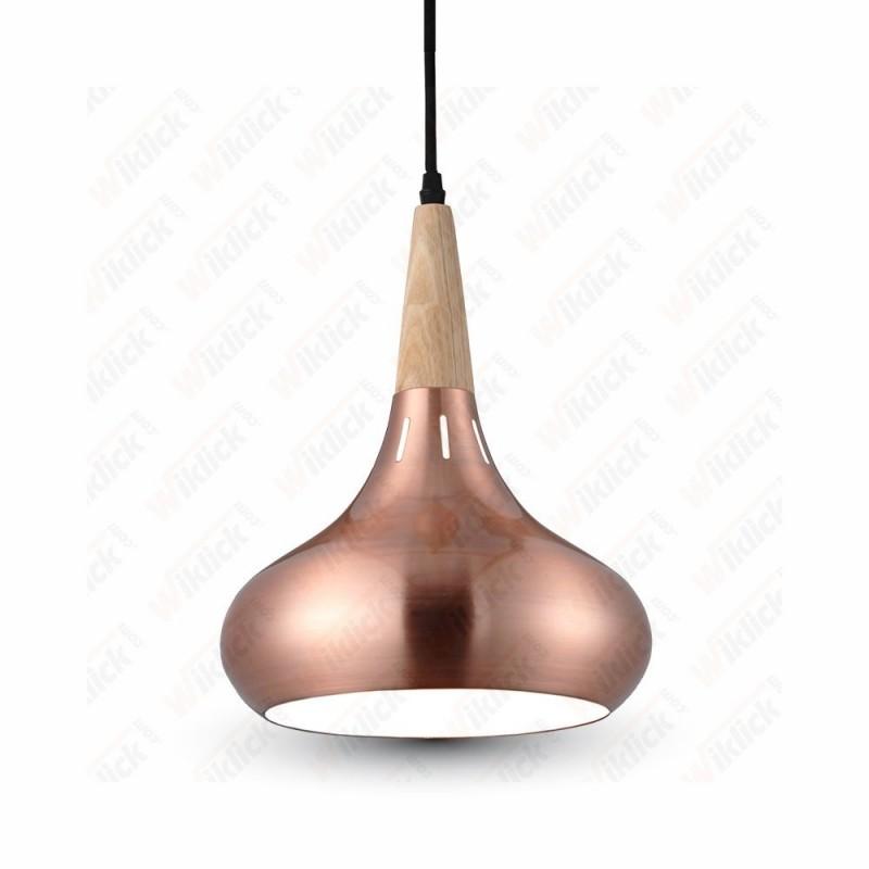 VT-7225 Pendant Light Red Bronze Canopy Metal Lamp Shape Diametro 260
