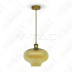 VT-7290 Glass Pendant Light Amber