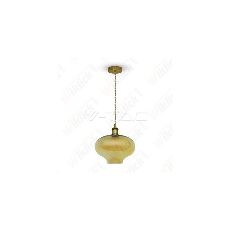 VT-7290 Glass Pendant Light Amber