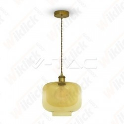 VT-7320 Glass Pendant Light Amber