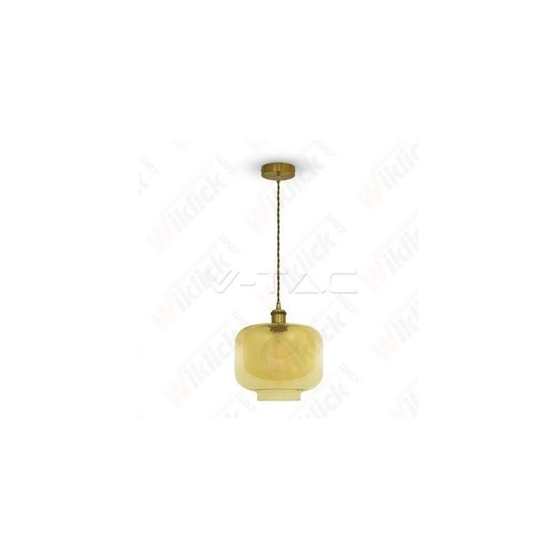 VT-7320 Glass Pendant Light Amber