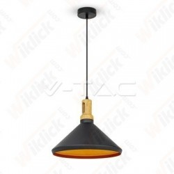 VT-7535 Modern Pendant Light Long Black Wooden Top