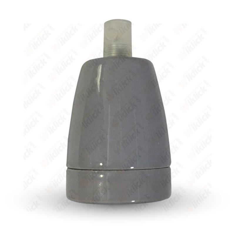VT-799 Porcelan Lamp Holder Fitting Grey