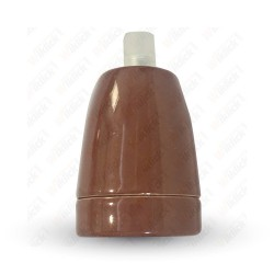 VT-799 Porcelan Lamp Holder Fitting Brown