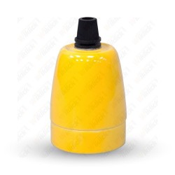 VT-799 Porcelan Lamp Holder Fitting Yellow